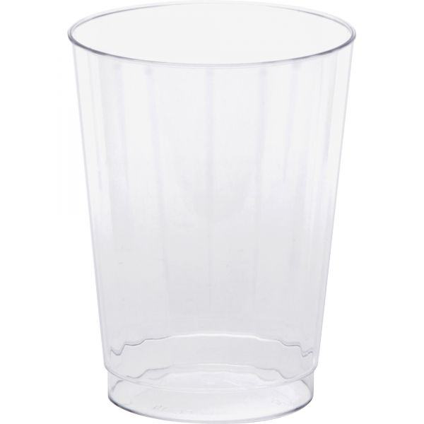 WNA Classic Crystal 10 oz Plastic Fluted Tumblers