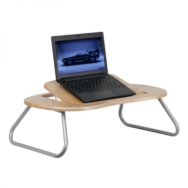 Flash Furniture Angle Adjustable Laptop Desk with Natural Top