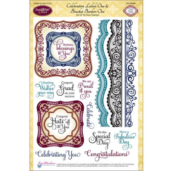 "JustRite Papercraft Clear Stamp Set 6""X8"""