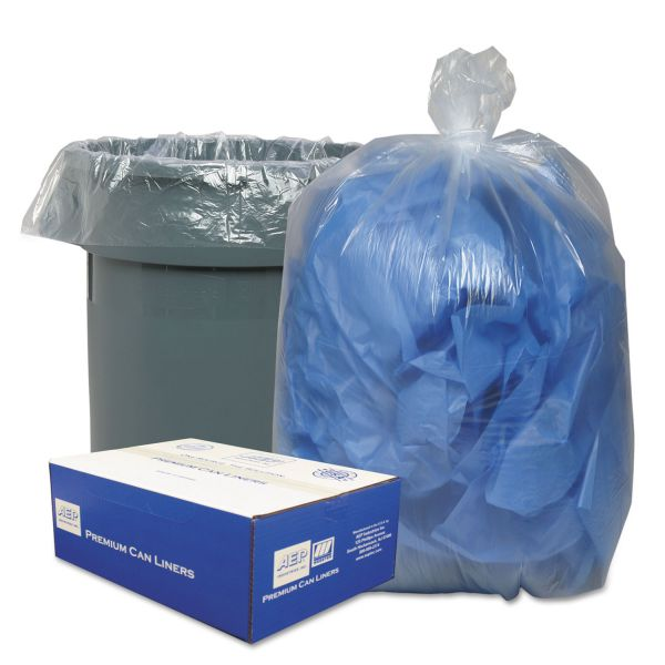 Classic Clear Clear Low-Density Can Liners, 40-45gal, .63 Mil, 40 x 46, Clear, 250/Carton