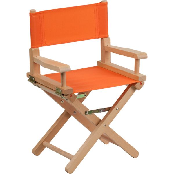 Flash Furniture Kid Size Directors Chair in Orange