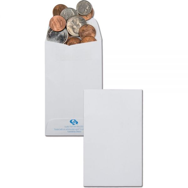 Quality Park Antimicrobial #3 Coin Envelopes