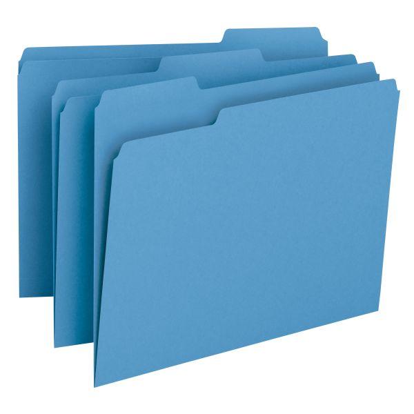 Smead Blue Colored File Folders
