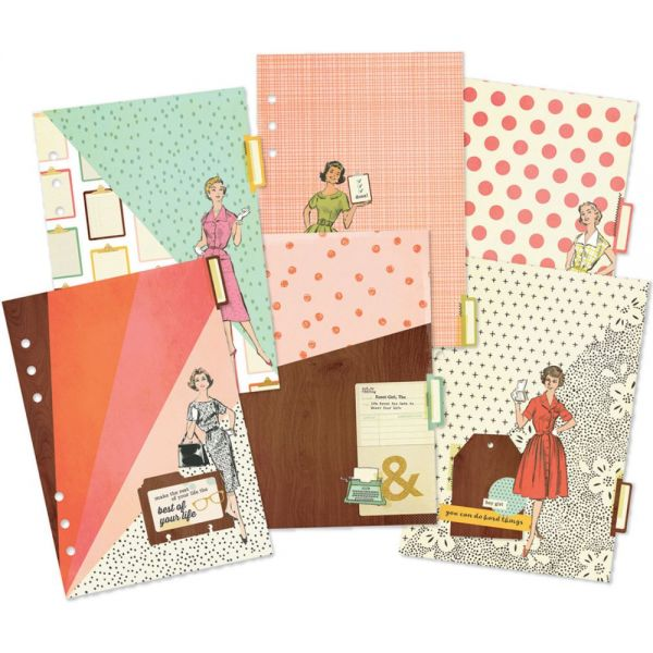 Reset Girl Double-Sided Dividers A5 6/Pkg