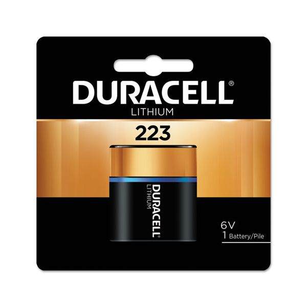 Duracell Ultra High Power Lithium Battery, 223, 6V, 1/EA