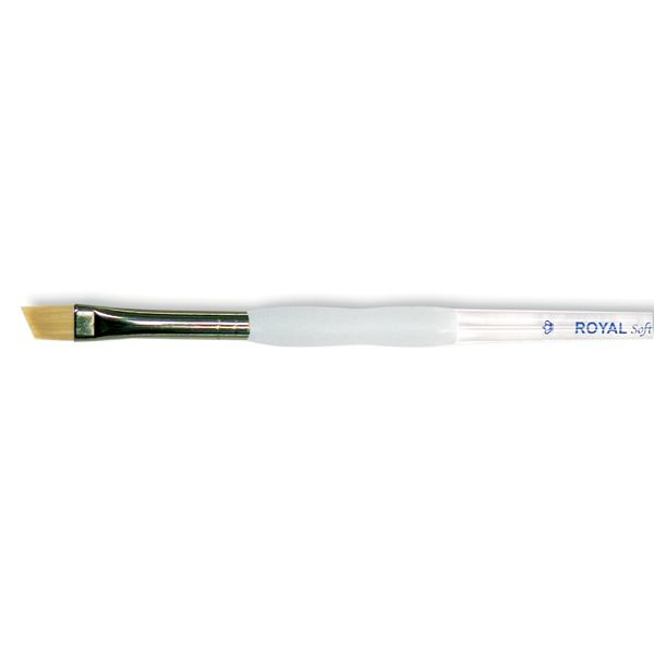 Soft-Grip Golden Taklon Angular Brush