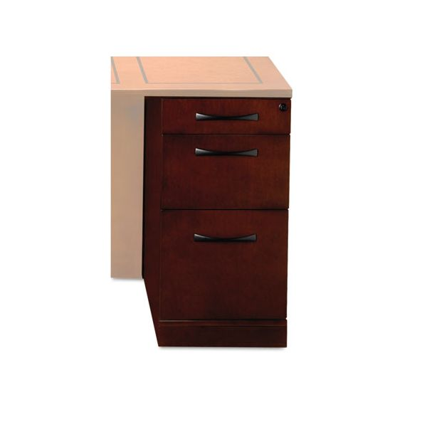 Tiffany Industries Sorrento Pencil/Box/File Desk Pedestal,15 1/4w x 24d x 28 1/4h, Cherry