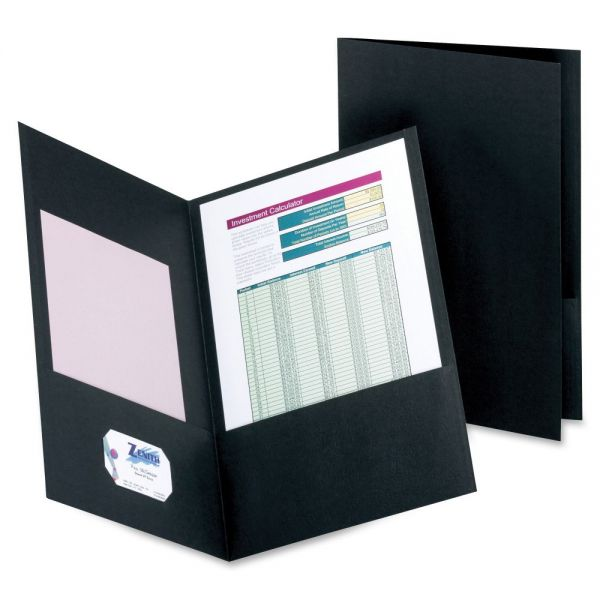 Esselte Black Two Pocket Folders
