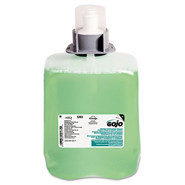 GOJO FMX Green Certified Foam Hair & Body Wash Refills