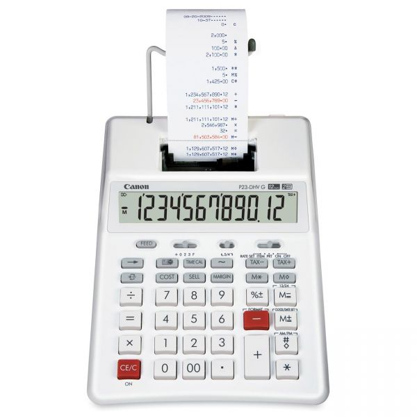 Canon P23-DHV-G Two-Color Palm Printing Calculator