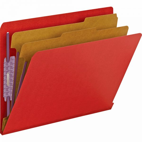 Smead 2-Divider Pressboard Classification Folders