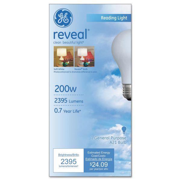 Ge Reveal A21 Light Bulb 200 W Gel89371 Officesupply Com