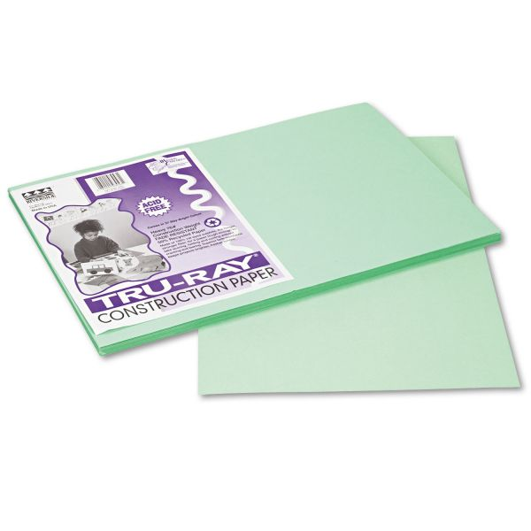 Tru-Ray Sulphite Green Construction Paper