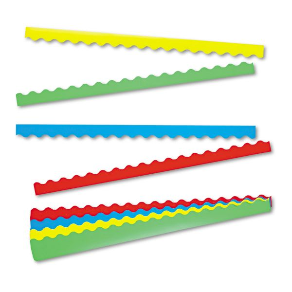TREND Terrific Trimmers Border Variety Pack, 2 1/4 x 39, Assorted Colors, 48/Set