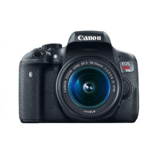 Canon EOS Rebel T6i 24.2 Megapixel Digital SLR Camera with Lens - 18 mm - 55 mm
