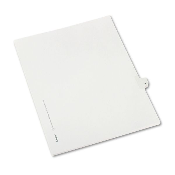Avery Allstate-Style Legal Exhibit Side Tab Divider, Title: 9, Letter, White, 25/Pack