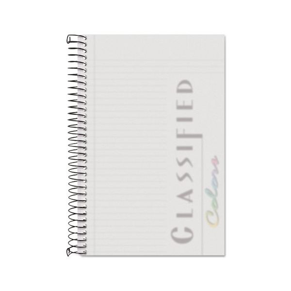 TOPS Color Notebook, Frosted Cover, 8 1/2 x 5 1/2, White, 100 Sheets