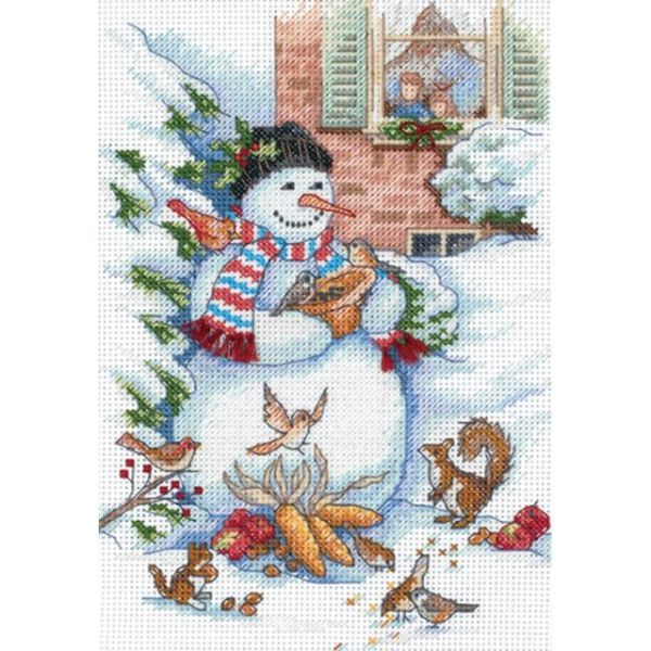 Dimensions Gold Petite Snowman & Friends Counted Cross Stitch Kit
