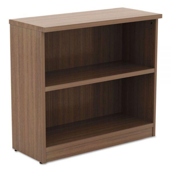 Alera Alera Valencia Series Bookcase,Two-Shelf, 31 3/4w x 14d x 29 1/2h, Modern Walnut