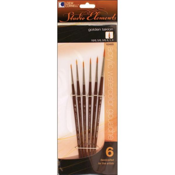 Studio Elements Golden Taklon Brush Set