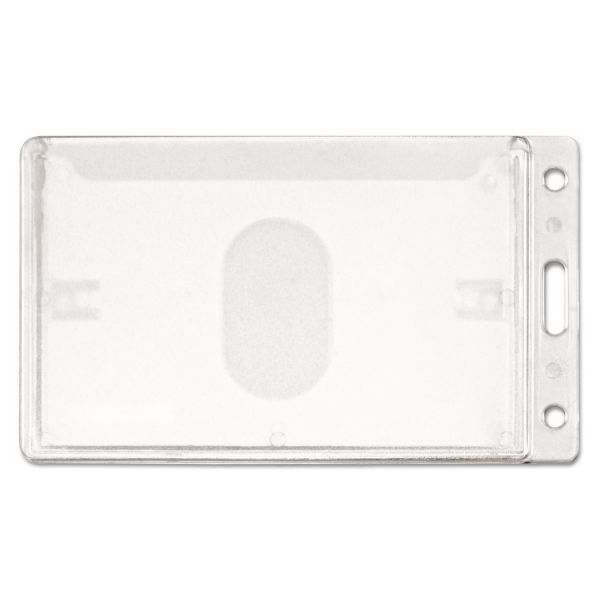 Advantus Frosted Rigid Vertical Badge Holders