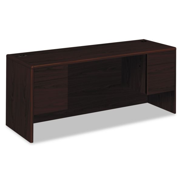 "HON 10700 Series Double Pedestal Credenza with Doors | 2 Box / 2 File Drawers | 72""W"