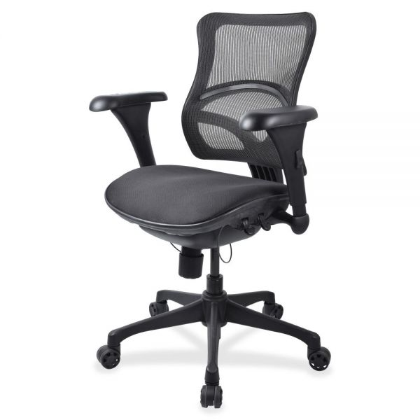 Lorell Mid-back Fabric Seat Office Chair