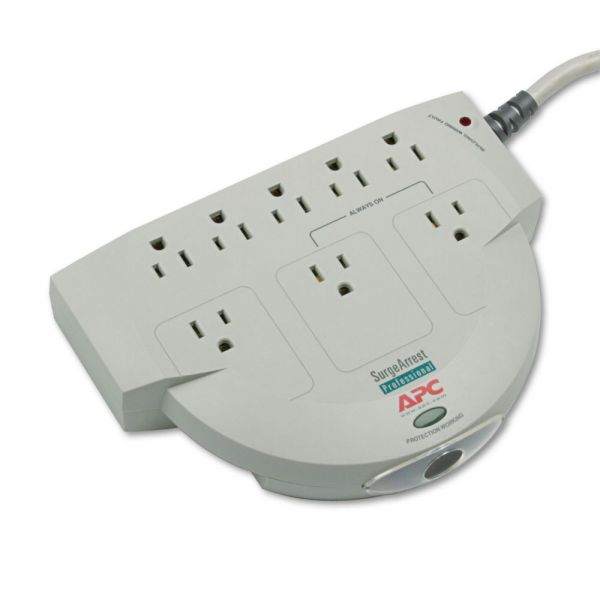 APC SurgeStation Power Surge Protector, 8 Outlets, 6ft Cord