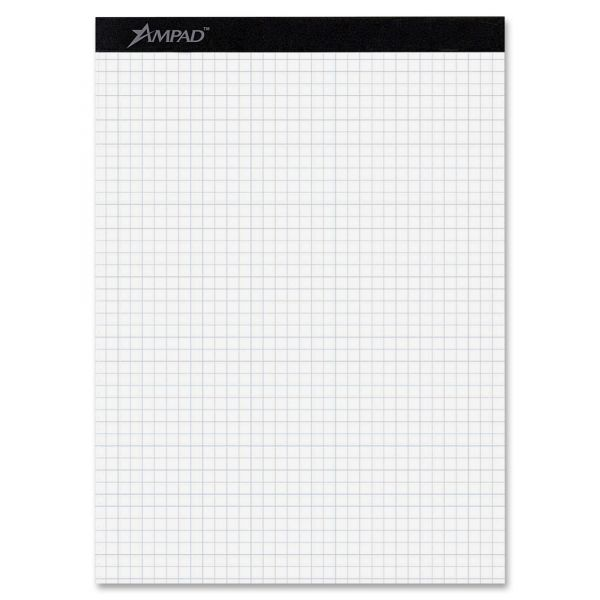 Ampad Quadrille Double Sheets Pad, 8 1/2 x 11 3/4, White, 100 Sheets