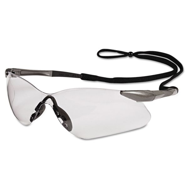 Jackson Safety* V30 Nemesis VL Safety Glasses, Gun Metal Frame, Clear Lens