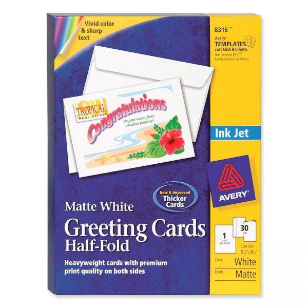 Avery 8316 Half-Fold Greeting Cards
