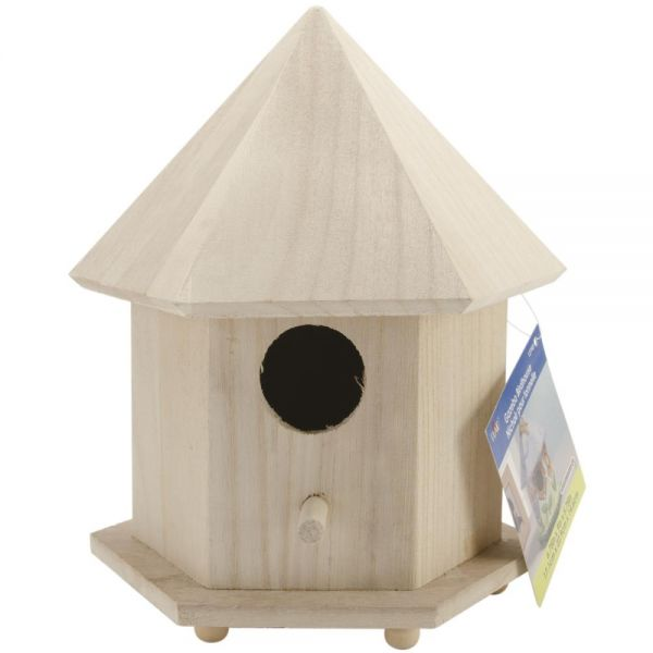 Plaid Wood Gazebo Birdhouse