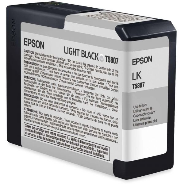 Epson T5807 Light Black Ink Cartridge