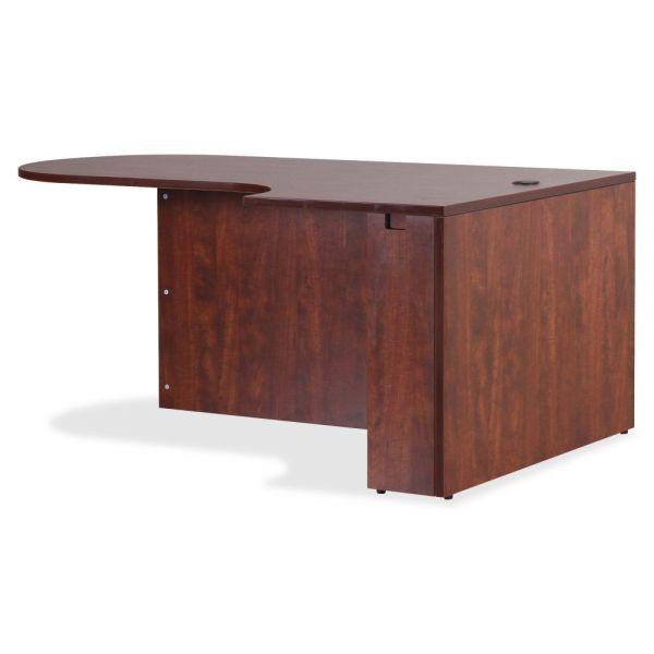 Lorell Essentials Series Cherry Laminate Office Desking