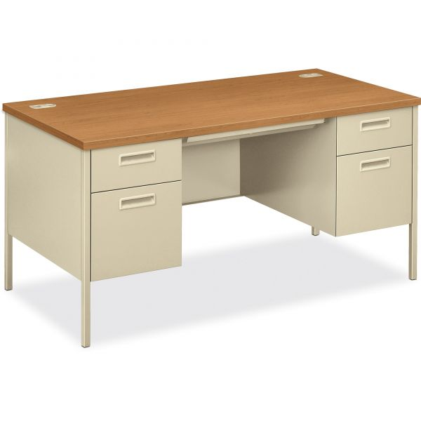 HON Metro Classic Double Pedestal Computer Desk
