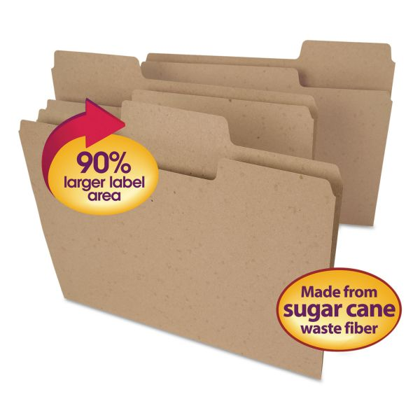 Smead Tree Free SuperTab Colored File Folders