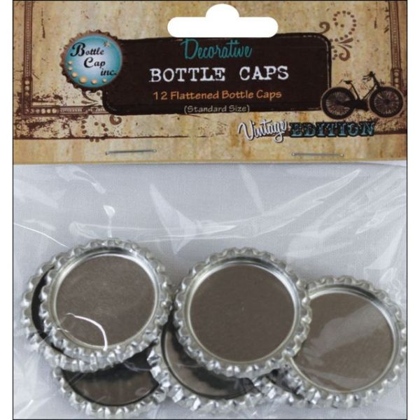 "Vintage Collection Flattened Bottle Caps 1"" 12/Pkg"