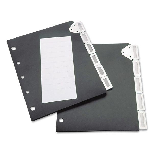 Tarifold, Inc. Index Divider Set For Catalog Rack, 5-Tab Set, Black