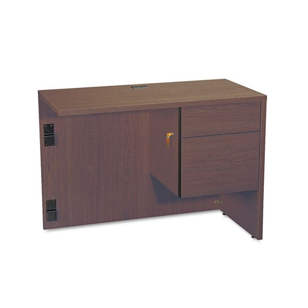 "Global Genoa ""L"" Workstation Return, Right, 40w x 20d x 29h, Mahogany"