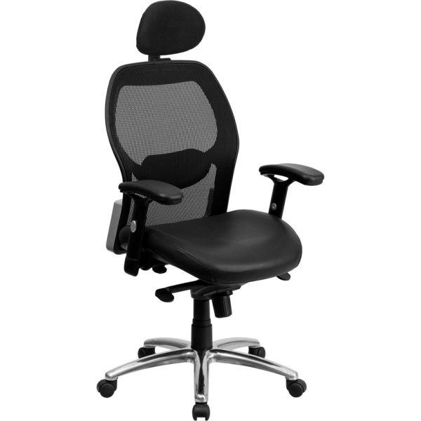 Flash Furniture High Back Super Mesh Executive Office Chair with Knee Tilt Control