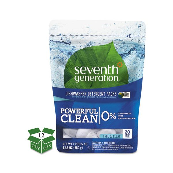 Seventh Generation Natural Dishwasher Detergent Concentrated Packs