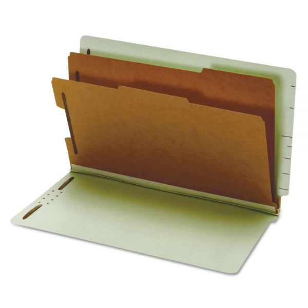 Globe-Weis Pressboard End Tab Classification Folders