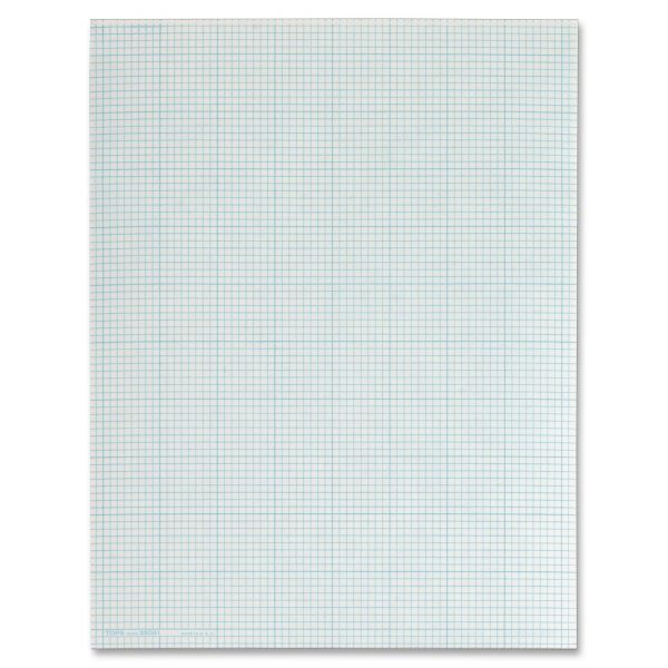 TOPS Section Pads, 8 Squares, Quadrille Rule, Letter, White, 50 Sheets/pad