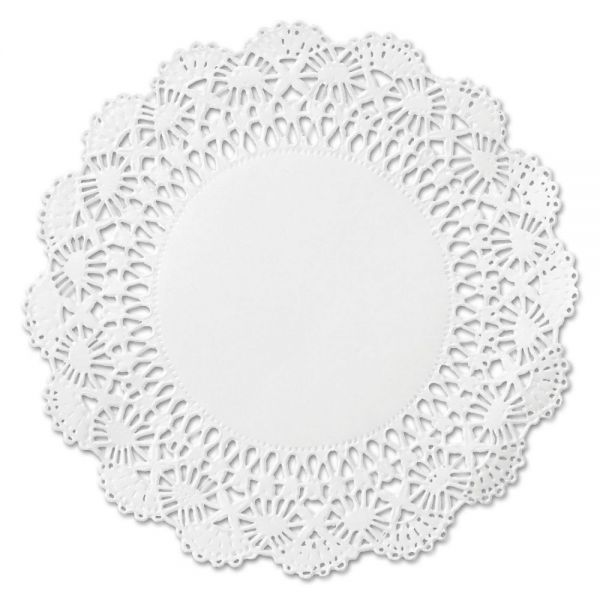"Hoffmaster Cambridge Lace Doilies, Round, 10"", White, 1000/Carton"