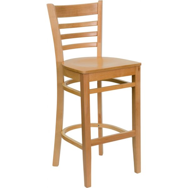 Flash Furniture HERCULES Series Ladder Back Wooden Barstool