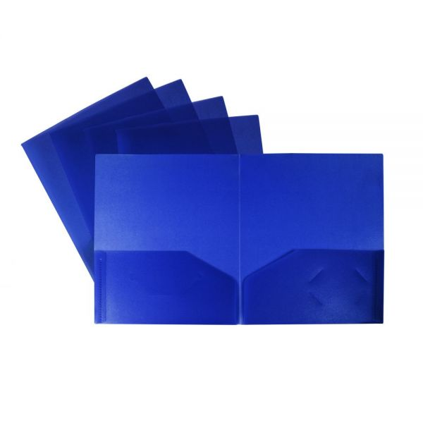 Storex Recycled Poly Two Pocket Folders