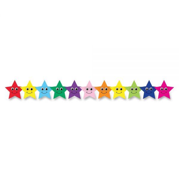 Hygloss Happy Multicolor Stars Border