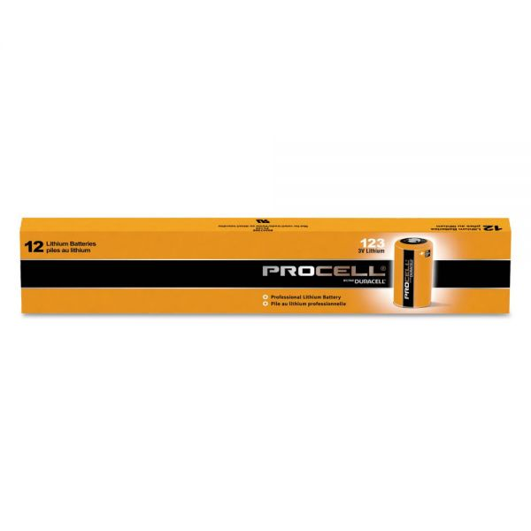 Duracell Procell Lithium Batteries, CR123, For Camera, 3V,12/Box