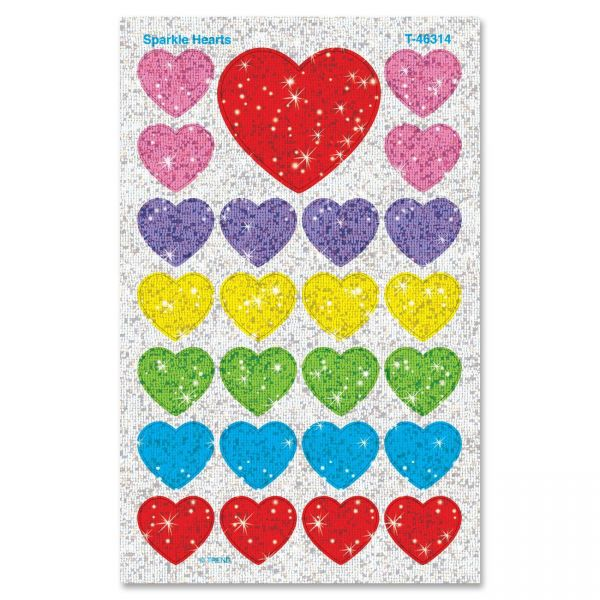 Trend Sparkle Hearts superShapes Stickers