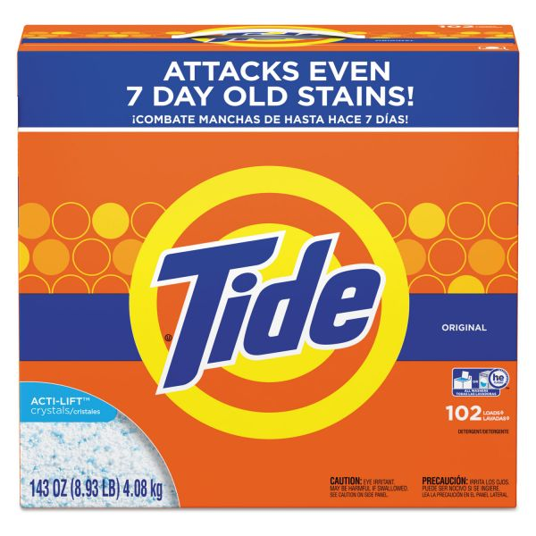 Tide Powder Laundry Detergent, Original Scent, 143 oz Box, 2/Carton